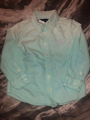 Polo Ralph Lauren Girls Blue Dyed Fased Shirt Oxford Age 2 RRP: £49.00