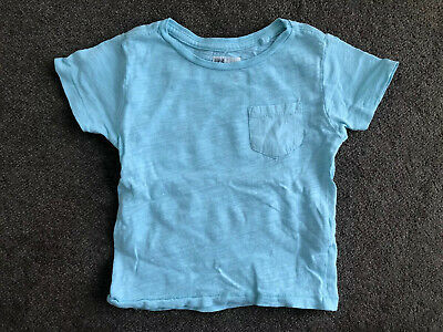 Cotton On Kids Baby Boys Aqua Cotton T-Shirt Size 1