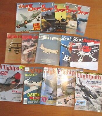 LOT OF 15 x AVIATION RELATED MAGAZINES – 70's, 80's, 2000's -  FREE POSTAGE