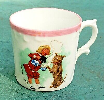 Antique Three Crown China,Germany Childs Tea Cup With Ad For Buster Brown Shoes