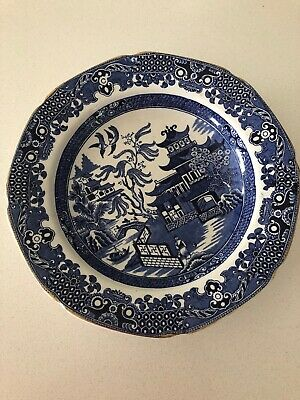 Blue Willow Antique Flat Bowl