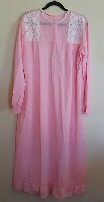 Jantex Size 24 Vintage Pink Long Night Gown