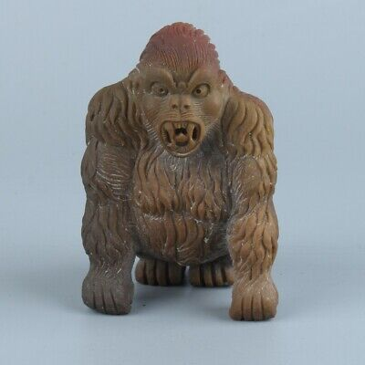 Chinese Exquisite Hand-carved Alashan Gobi Agate King Kong statue