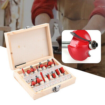 15pcs Woodworking Milling Cutters Tungsten Carbide Router Bit Set for Softwood
