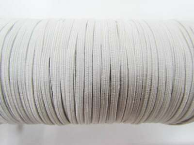 6mm White Knit Elastic Suitable for face masks, scrunchies, garters, craft
