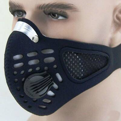 Black Anti Dust Motorcycle Bicycle Cycling Bike Ski Face Mouth Shield Filter -US
