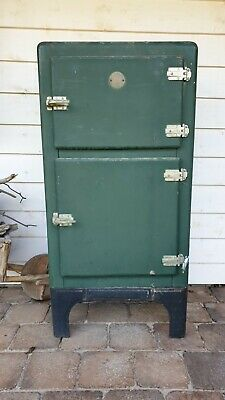 Vintage Esky brand ice box converted to fridge with freezer section. Man Cave.