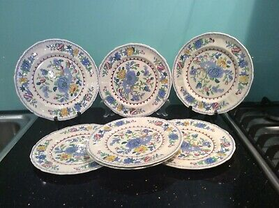 MASONS REGENCY  ironstone Made in England C 4475  7 Dinner plates