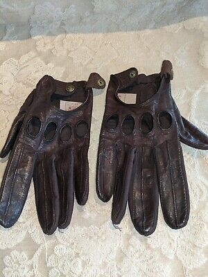 Vintage Driving Leather Gloves Made in Phillipines Size Large Isotoner Aris