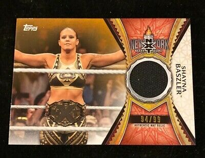 2020 TOPPS WWE ROAD TO WRESTLEMANIA SHAYNA BASZLER RED AUTH MAT RELIC #'d 94/99