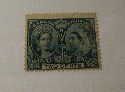 1897 2 CENTGREEN QUEEN VICTORIA DIAMOND JUBILEE UNCANCELLED never HINGED RIPPLED