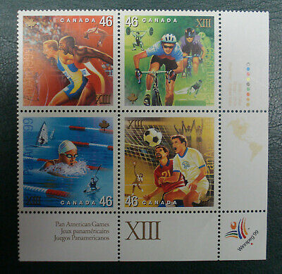 """1999 Pane Of 4 X 46 Cents Stamp """"Pan American Games""""  In Good Condition"""
