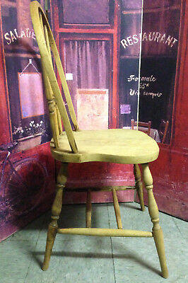"Old Spindle Back Side Chair ~~ 35"" High ~~ Seat Approx 15"" x 15"" ~~"