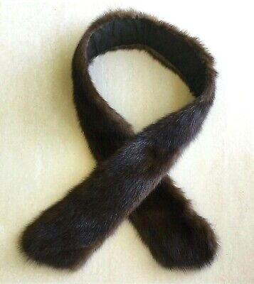 Authentic Vintage Lined Mink Collar - 1 metre long
