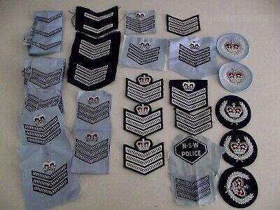 Obsolete/Defunct Lot N.S.W. Police Cloth Ranks