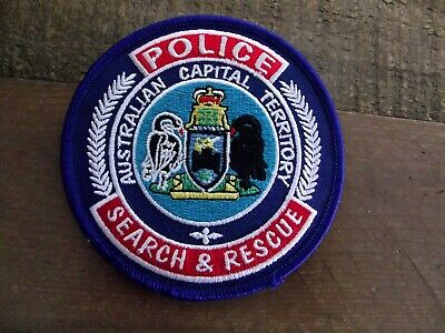 Obsolete/Defunct/Social REPRO A.C.T. Police Search & Rescue Patch