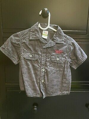 GUC! Baby Boys Dark Grey Cotton Dress Shirt Size 0