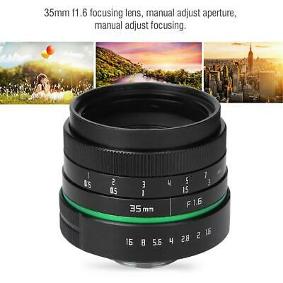 35mm F1.6 C Mount APSC Focusing Lens Use with Adapter Ring for Sony Camera