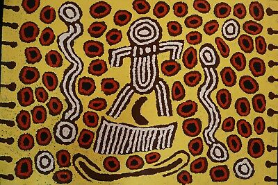 "Barbara Napangarti Reid, ""Womens Ceremony"" 2017 620x900cm Aboriginal Artwork."