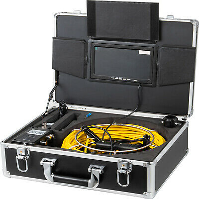 """7"""" LCD Pipe Inspection Pipeline 50M Drain Sewer Waterproof Camera 16G Recording"""