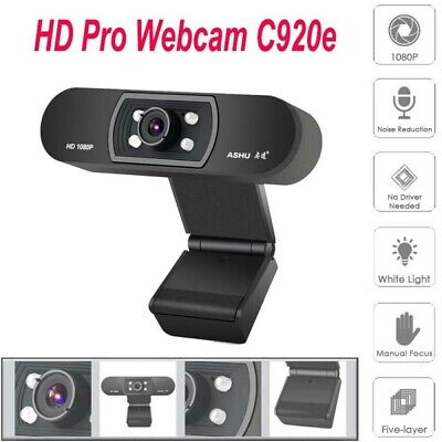 SH800 1080P USB 2.0 HD Camera Webcam Clip Web Cam With Mic For Win10 PC Laptop
