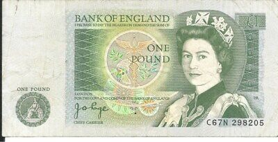 Bank of England £1 Note