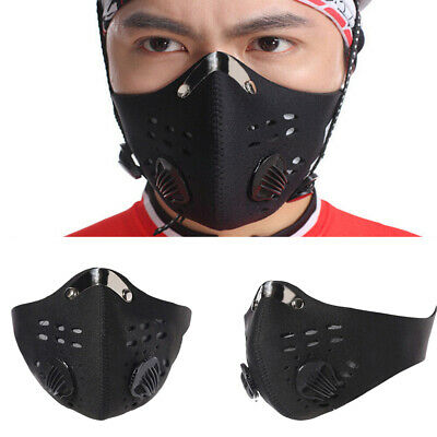 Outdoor Cycling Bicycle Masque Anti Dust Haze Half Face Masque Dual Valve Filter