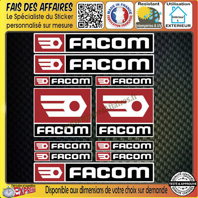 11 Stickers autocollant Facom bricolage adhésif planche sponsor tuning outil