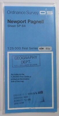 1964 vintage OS Ordnance Survey 1:25000 First Series Map SP 84 Newport Pagnall