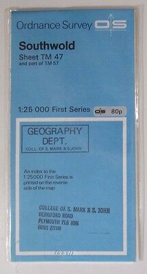 1966 OS Ordnance Survey 1:25000 First Series map TM 47 & Part of TM 57 Southwold