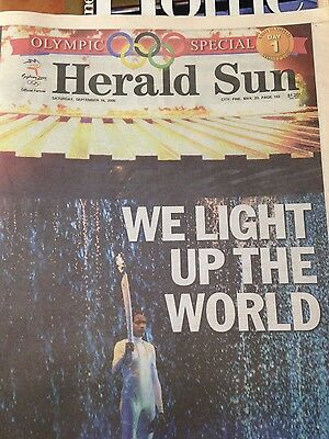 Herald Sun  NEWSPAPER, OLYMPIC GAMES,   Day 1 one September 16-2000