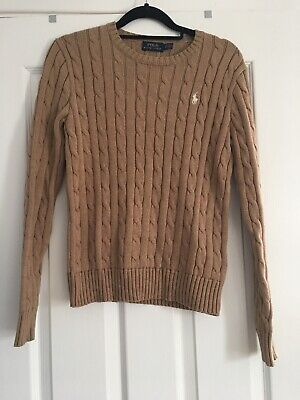 Ralph Lauren Polo Cable Knit Cotton Jumper Immaculate Size S