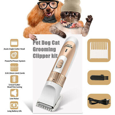 Multifunction Cat Dogs Hair Trimmer Electric Pet Clipper Cordless Grooming Kit