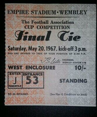 1967 ORIGINAL FA CUP FINAL TICKET TOTTENHAM HOTSPUR  v CHELSEA J53 1197