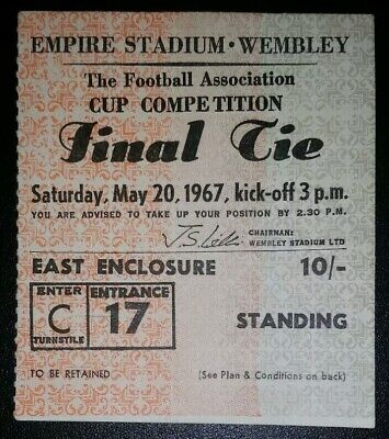 1967 ORIGINAL FA CUP FINAL TICKET TOTTENHAM HOTSPUR  v CHELSEA C17 512