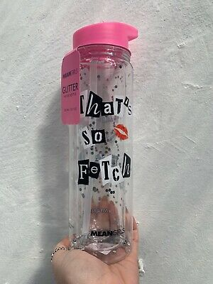 Primark Mean Girls Thats So Fetch Water Drinks Bottle Clear / Glitter Brand New