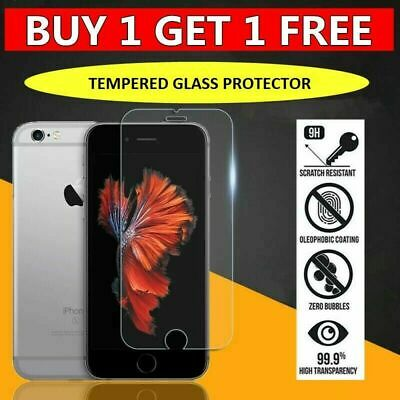 For iPhone 5 6 6s 7 8 Plus X,XR,11 Gorilla Tempered Glass Screen Protector