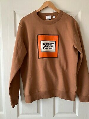 Burberry London Mens Sweatshirt Made In Italy (S)Cotton Blend Authentic