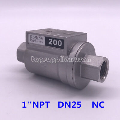 1'' DN25 Pneumatic Operate Shuttle Valve NC For Beer Filling Machinery 200