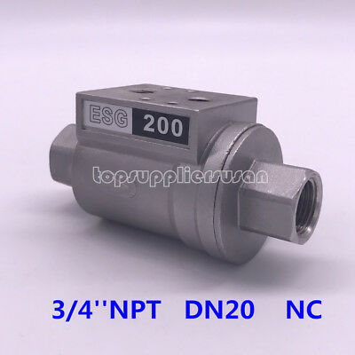 3/4'' DN20 Pneumatic Shuttle Valve NC For Beer Filling Machinery ESG 200