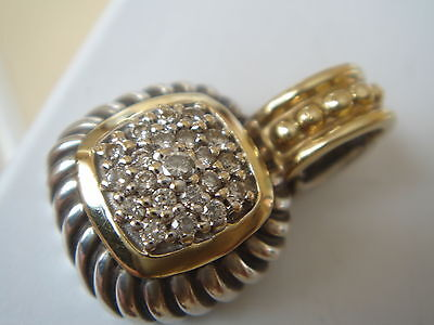 $1150 David Yurman 18K Ss Diamond Albion Enhancer