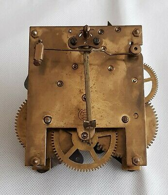 Gustav Becker  Brass Clock Movement For Spares Or Repairs.