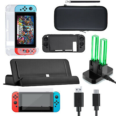 Carrying Case Bag Screen Protector Cover Accessories Charger For Nintendo Switch