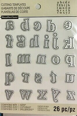 Recollections Cut And Emboss Dies ~Alphabet Lower Case Code 508091