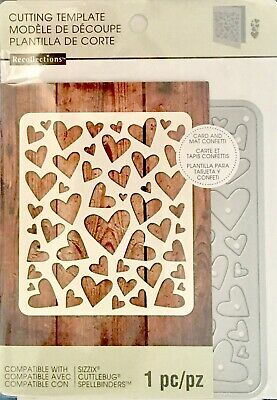 Recollections Cut And Emboss Dies ~Hearts Background Code 542702