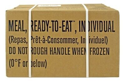Sopakco MRE Meals Ready To Eat Survival Kit Military Rations 09/2019 Case A 1-12