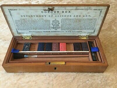 Antique Watercolour / Artist Box by Charles Roberson C.1880