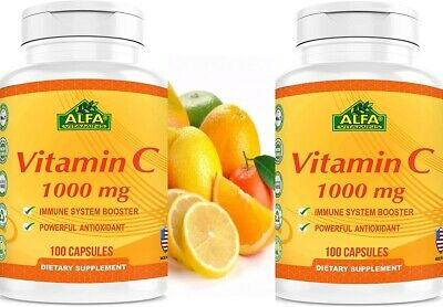 Vitamin C ALFA 1000 mg  Support the Immune System 100 Fast Shipping 2 bottles