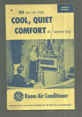 1950s GENERAL ELECTRIC GE ROOM AIR CONDITIONER OWNER'S MANUAL