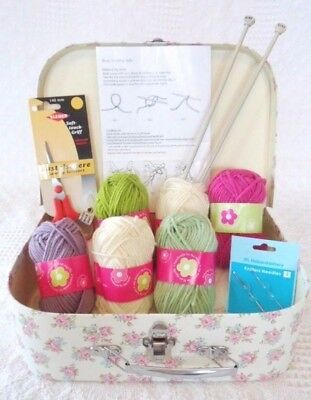 Beginners Knitting Kit Learn how to Knit Everything Included SALE WOOL & NEEDLES